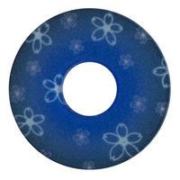 紋様鍔 さくら青色