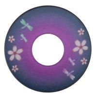 紋様鍔 とんぼさくら 紫色