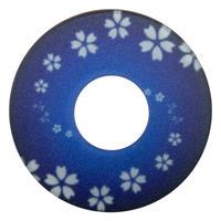 紋様鍔 さくら渦巻 青色
