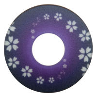 紋様鍔 さくら渦巻 紫色