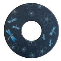 紋様鍔 とんぼさくら  黒青