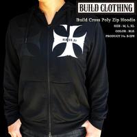 Build Cross Poly Zip Hoodie