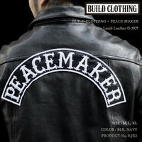 BUILD CLOTHING × PEACE MAKER W-Name Lamb Leather G-JKT