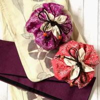 【Yaya Baba】タイバティック布製 花びら巾着