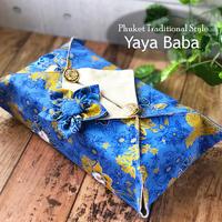【Yaya Baba】タイバティック布製 ティッシュカバー  金ラメ使い