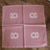 antique pink flower cloth