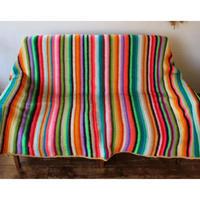 colorful stripe knitrag