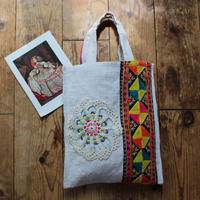 grainsack&doily embroidery bag