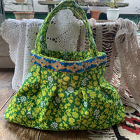 grany bag yellow green flower