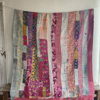 vintage khanta pink patchwork×blue gradation