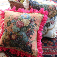 vintage gobelin cushion