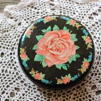 vintage rose tin box