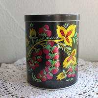 vintage Berry tin box large