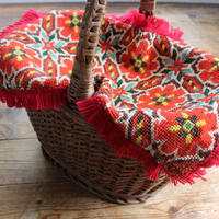 Bulgaria flower embroidery blanket