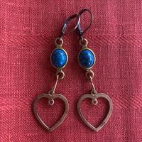 vintage blue heart pierce