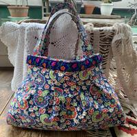 grany bag navy flower