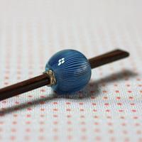 藍鼠玉 万筋 蜻蛉玉簪(とんぼ玉かんざし)