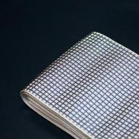 角帯 微塵格子 銀鼠