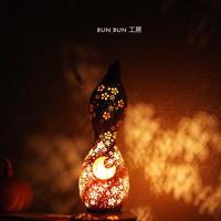 ひょうたんランプ ---月夜の花吹雪ー