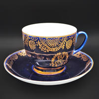 Lomonosov/Imperial Porcelain Soviet Cup for 60 years anniversary