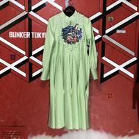 ROMA UVAROV mint embroidery dress