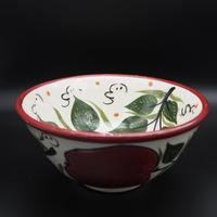 Rishton Ceramic Bowl pomegranate