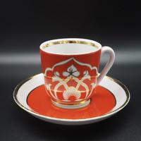 70's Vintage Tea Cup Set Cotton flower