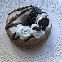 【ハンドメイド】大人カワイイ モノトーンドーナツスクイーズ チョコ