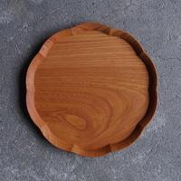 四十沢木材工芸 けやき輪花皿 八寸 段無