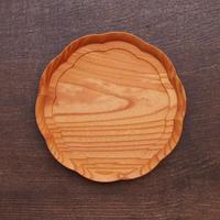 四十沢木材工芸 けやき輪花皿 八寸