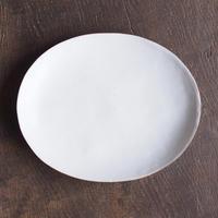 ババグーリ babaghuri 薄手の陶器 白 大皿