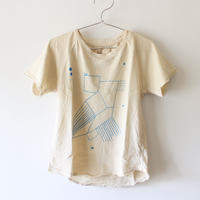 Kids bird raglan tee / chalk white