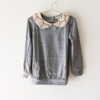Kids maryjane popover sweat / lace collar