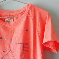 Kids bird raglan tee / papaya pink