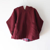Kids melton clyde cape / cranberry