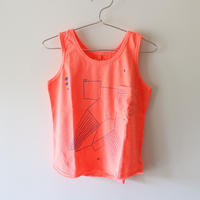Kids bird tank / papaya pink