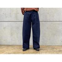 STUDIO NICHOLSON / PEACHED COTTON TWILL CLASSIC VOLUME PLEAT PANTS
