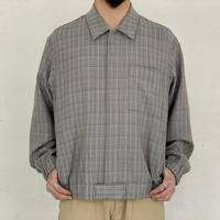 AURALEE / HARD TWIST WOOL DOUBLE FACE CHECK BLOUSON