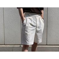 NEAT /  強捻 OX BELTLESS SHORTS WHITE