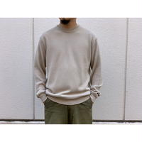 AURALEE / COTTON POLYESTER CODE KNIT PULLOVER
