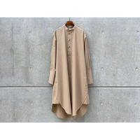 STUDIO NICHOLSON / POWER COTTON SHIRT DRESS (TAN)