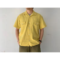 WESTOVERALLS / DENIM SHORT SLEEVE SHIRT (YELLOW)