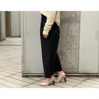 STUDIO NICHOLSON / EXTRAFINE COTTON PLEAT FRONT WIDE LEG PANT (BLACK)