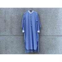 SCYE / Vertical Striped Cotton Long Shirt Dress