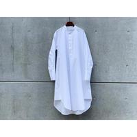 STUDIO NICHOLSON / POWER COTTON SHIRT DRESS (OPTIC WHITE)