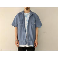WESTOVERALLS / DENIM SHORT SLEEVE SHIRT (SAX)