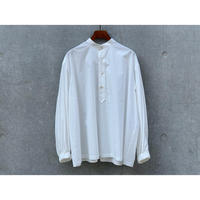 SCYE / Cotton Washed Poplin  Puff  Sleeve P/O Shirt (OFF WHITE)