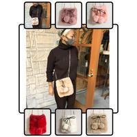 cherry eco fur bag