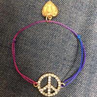 Bling bling peace bracelet