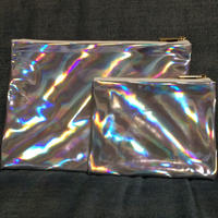 Set of 2 mirror holographic clutch bags
